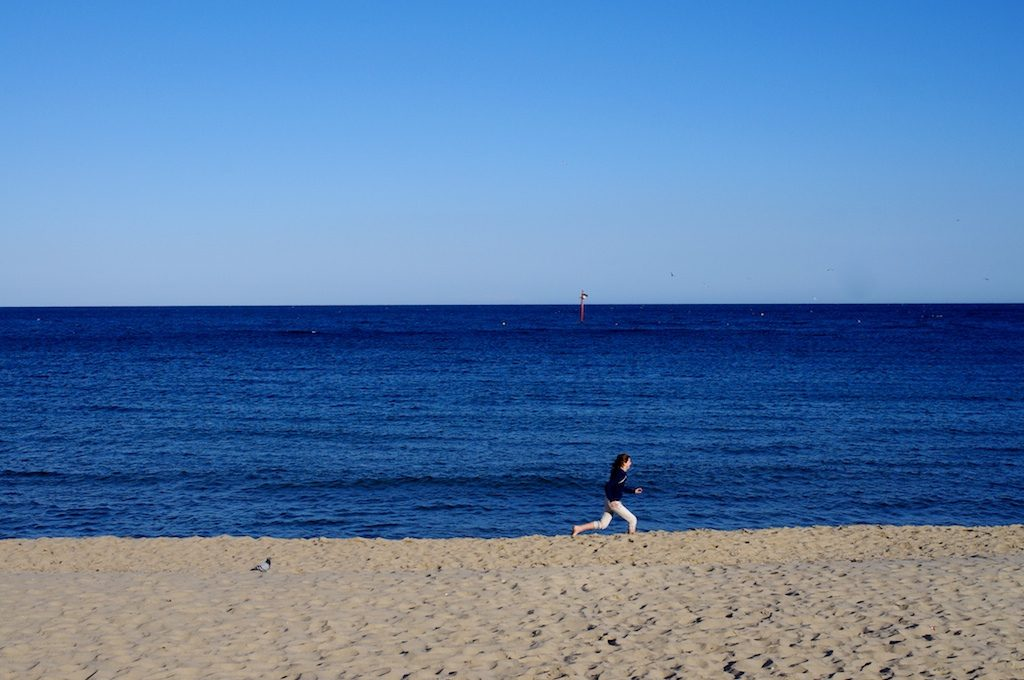correr en barcelona playa