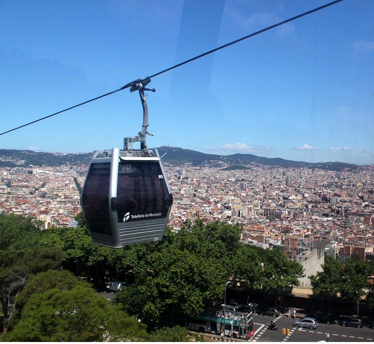 planes de verano en Barcelona teleférico Montjuic